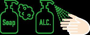 定期的な手洗い・消毒